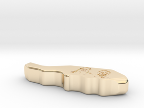Massage Thumb Saver COLLECTOR'S EDITION in 14k Gold Plated Brass: Medium