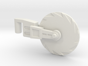 Hot Rod Spinning Hand-Saw 5mm (PotP) in White Natural Versatile Plastic
