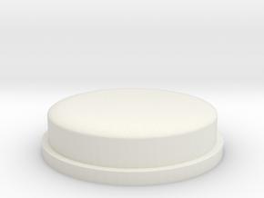 SQUK BUTTON in White Natural Versatile Plastic