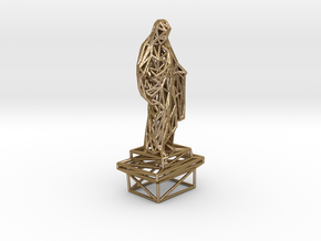 Christ statue in Polished Gold Steel