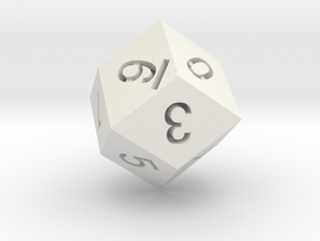 D12(0 to 11) in White Natural Versatile Plastic