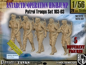 1/56 Antarctic Troops Set103-03 in Smooth Fine Detail Plastic