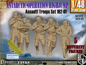 1/48 Antarctic Troops Set102-01 in Smooth Fine Detail Plastic