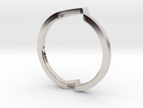 Ring - Wondr in Rhodium Plated Brass: 4 / 46.5