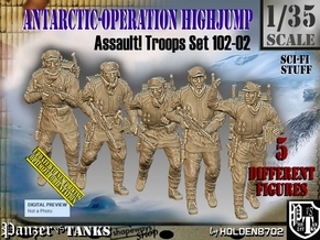 1/35 Antarctic Troops Set102-02 in Smooth Fine Detail Plastic