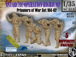 1/35 Antarctic Troops Set104-02 in Smooth Fine Detail Plastic
