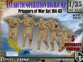 1/35 Antarctic Troops Set104-03 in Smooth Fine Detail Plastic