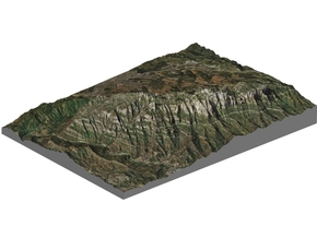 Montserrat Mountains Map: A4 Size in Matte Full Color Sandstone