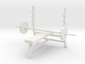 1:48 Bench Press in White Natural Versatile Plastic