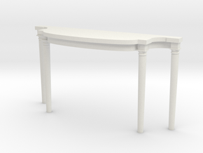 1:48 Louis XVI Console Side Table in White Natural Versatile Plastic