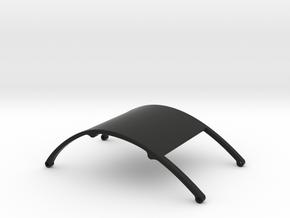 Ventru Top Cabin -Round -FULL3D in Black Natural Versatile Plastic