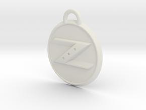 Nissan Z Badge in White Natural Versatile Plastic
