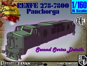 1-160 Renfe 7800 Panchorga 2nd series in White Strong & Flexible
