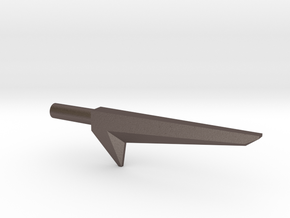 Blackstar Star Sword (3mm, 4mm, 5mm) in Polished Bronzed-Silver Steel: Extra Small