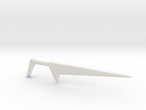 Blackstar Star Sword (3mm, 4mm, 5mm) in White Natural Versatile Plastic: Medium
