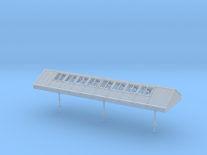 Narrow Canopy Assembly N Scale in Smooth Fine Detail Plastic
