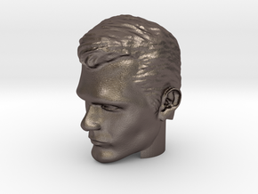 Superman Head   Henry Cavill in Polished Bronzed-Silver Steel