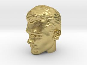 Superman Head | Henry Cavill in Natural Brass