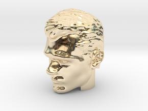 Superman Head   Henry Cavill in 14k Gold Plated Brass