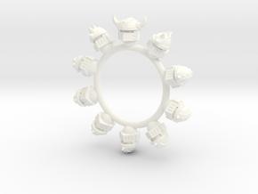Chaos Iron Warriors Helmets x10 Warhammer 40k 30k in White Processed Versatile Plastic