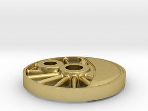 wheel H-maskine 1:45  in Natural Brass