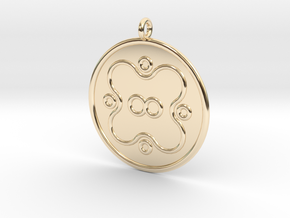 Microbiology Symbol in 14K Yellow Gold
