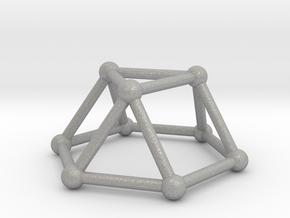 0726 J03 Triangular Cupola V&E (a=1cm) #2 in Aluminum