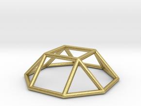0728 J04 Square Cupola E (a=1cm) #1 in Natural Brass