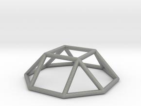 0728 J04 Square Cupola E (a=1cm) #1 in Gray PA12