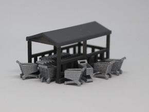 N Grocery Cart Corral in Smooth Fine Detail Plastic