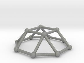 0729 J04 Square Cupola V&E (a=1cm) #2 in Gray PA12