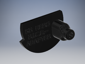 KR Hero Chassis - R.I.C.E.-Adapter in Black Natural Versatile Plastic