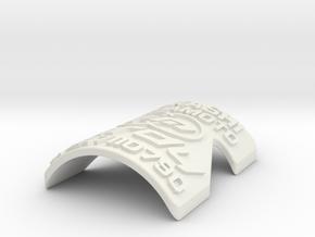 Birdy Badge in White Natural Versatile Plastic