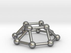 0730 J04 Square Cupola V&E (a=1cm) #3 in Natural Silver