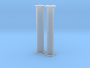 14mm Fuel Pipe Section_2 Pack in Smooth Fine Detail Plastic