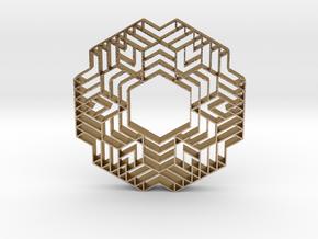 hangerless pendant 12 in Polished Gold Steel
