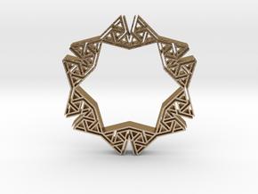 tribal hangerless pendant 5 in Polished Gold Steel