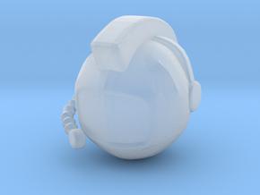 SpaceHelmetv3 in Smooth Fine Detail Plastic
