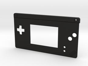 Gameboy Macro Faceplate (for DS Lite) - 2 Buttons in Black Premium Versatile Plastic