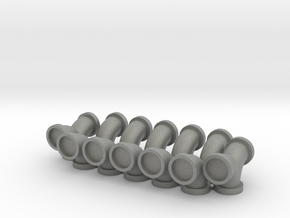 4.8mm Flanged Pipe Fittings 90 Elbows - 10 Pack in Gray PA12