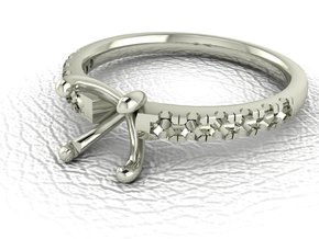 Classic Solitaire 23 NO STONES SUPPLIED in 14k White Gold