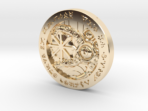 Law/Chaos Coin in 14K Yellow Gold: Medium