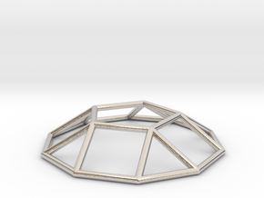0731 J05 Pentagonal Cupola E (a=1cm) #1 in Rhodium Plated Brass
