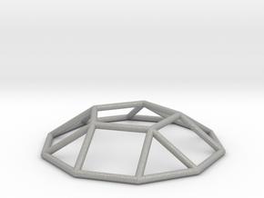 0731 J05 Pentagonal Cupola E (a=1cm) #1 in Aluminum