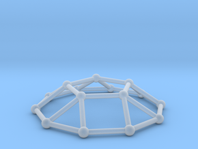 0732 J05 Pentagonal Cupola V&E (a=1cm) #2 in Smooth Fine Detail Plastic