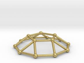 0732 J05 Pentagonal Cupola V&E (a=1cm) #2 in Natural Brass