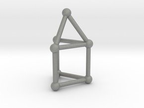 0738 J07 Elongated Triangular Pyramid (a=1cm) #2 in Gray PA12