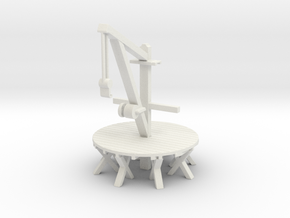 NAVAL CRANE in White Natural Versatile Plastic
