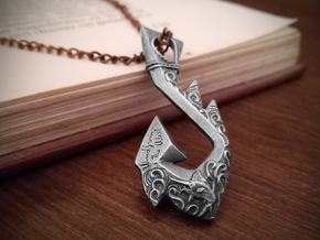 Wind From The West Hook Pendant in Antique Silver