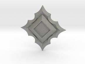 Jeweled Star Empty - 40mm in Gray Professional Plastic